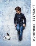 kid's fashion. modern nine year ... | Shutterstock . vector #591753647