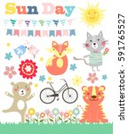 spring stickies and labels | Shutterstock .eps vector #591765527