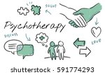 mental health care sketch... | Shutterstock . vector #591774293