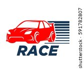 race car logo | Shutterstock .eps vector #591782807
