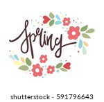 spring and flower. beautiful... | Shutterstock .eps vector #591796643