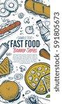 cafe bar fast food symbols... | Shutterstock . vector #591805673