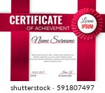 certificate template with... | Shutterstock .eps vector #591807497