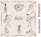 vector  illustration. ballet... | Shutterstock .eps vector #591816953
