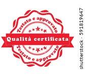italian grunge printable stamp  ... | Shutterstock .eps vector #591819647