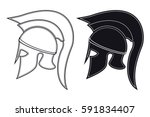 black and white vector... | Shutterstock .eps vector #591834407
