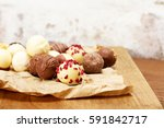 selection of delicious... | Shutterstock . vector #591842717