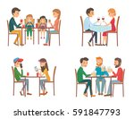 collection of vector... | Shutterstock .eps vector #591847793