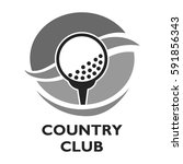 golf country club logo template ... | Shutterstock .eps vector #591856343