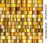 vector set of gold gradients.... | Shutterstock .eps vector #591859157