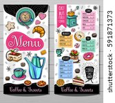 coffee shop menu template  cafe ... | Shutterstock .eps vector #591871373