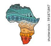 Textured Vector Map Of Africa....