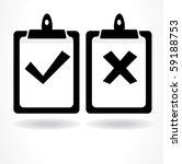 tick and cross | Shutterstock .eps vector #59188753