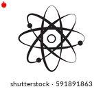 molecule  icon  vector... | Shutterstock .eps vector #591891863
