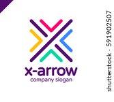 letter x logo design concept... | Shutterstock .eps vector #591902507
