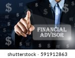 business man pointing his hand... | Shutterstock . vector #591912863