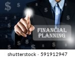 business man pointing his hand... | Shutterstock . vector #591912947