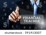 business man pointing his hand... | Shutterstock . vector #591913007