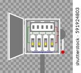 switch box. vector illustration | Shutterstock .eps vector #591924803