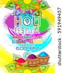 holi festival poster. template... | Shutterstock .eps vector #591949457