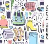 hand drawn fashion illustration....   Shutterstock .eps vector #591955547