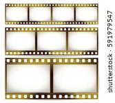 film strip vector set. cinema... | Shutterstock .eps vector #591979547