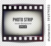 photo strip vector. realistic... | Shutterstock .eps vector #591979553
