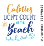 calories don't count at the... | Shutterstock .eps vector #591998693