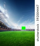 stadium sunny day. with people... | Shutterstock . vector #592004447