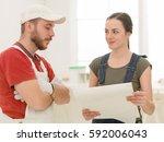 repair  building  renovation... | Shutterstock . vector #592006043