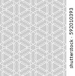 seamless geometric line pattern.... | Shutterstock .eps vector #592010393