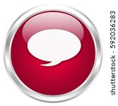 speech bubble button isolated ... | Shutterstock . vector #592036283