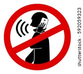 no talking cell phone sign...