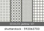 seamless geometric line... | Shutterstock .eps vector #592063703