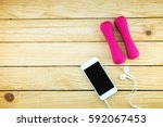 top view image sport and... | Shutterstock . vector #592067453