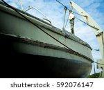the old ship memorial at prasae ... | Shutterstock . vector #592076147