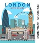 london flat illustration ...   Shutterstock .eps vector #592080533