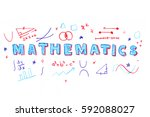illustration of mathematics... | Shutterstock .eps vector #592088027