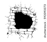 hand drawn sketch hole in the...   Shutterstock .eps vector #592093373