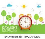 daylight saving time concept... | Shutterstock .eps vector #592094303