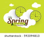 daylight saving time poster or... | Shutterstock .eps vector #592094813