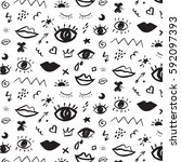 trendy vector pattern with... | Shutterstock .eps vector #592097393