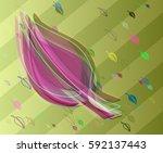 leaves pattern design   Shutterstock .eps vector #592137443
