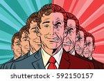 crowd bad good people | Shutterstock .eps vector #592150157