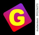 letter g sign design template... | Shutterstock .eps vector #592156373