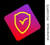 shield sign as protection and... | Shutterstock .eps vector #592156973