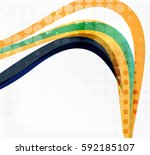 vector dotted curve waves...   Shutterstock .eps vector #592185107