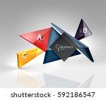 glossy glass translucent... | Shutterstock .eps vector #592186547