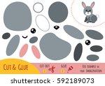 education paper game for... | Shutterstock .eps vector #592189073