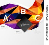 triangle mosaic vector abstract ... | Shutterstock .eps vector #592190087